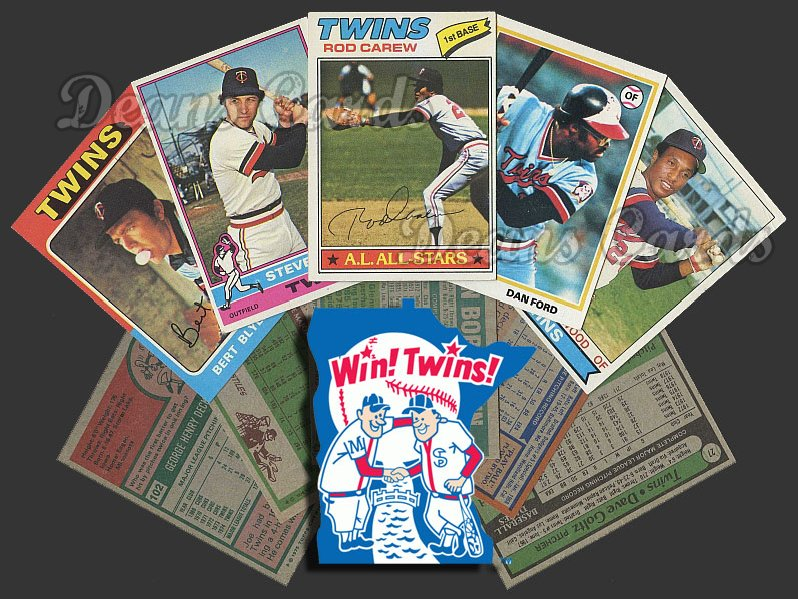 1975 Topps  -79  Minnesota Twins 50 Card Team Starter Set / Lot